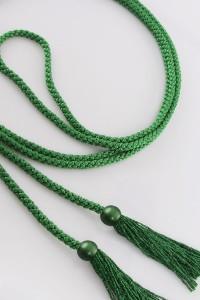 Cingulum frędzle zielony