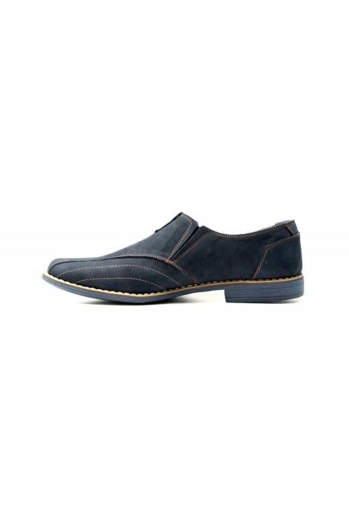 Granatowe buty wsuwane z...