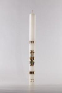 Komunia - świeca trzymana w ręku, duża [K11]