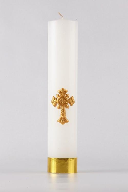 Świeca ołtarzowa - Krzyż,...