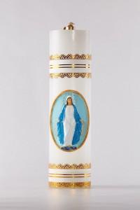 Świeca olejowa - Matka Boża Niepokalana aplikacja woskowa...