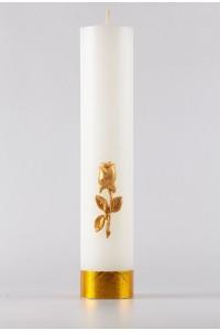 Świeca ołtarzowa - Róża złota, mała [O-7]