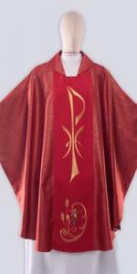 Ornaty Czerwone z haftem - Ornaty liturgiczne - E-liturgia.pl